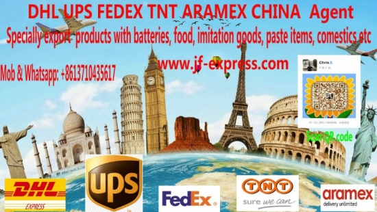 Agent for DHL UPS FEDEX TNT from China to wordwide